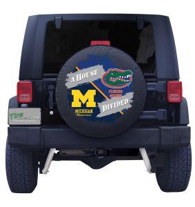 Univesity of Michigan and Florida Gators Tire Cover