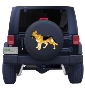 United States Army Scout Dog Tire Cover Front
