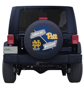 Notre Dame &  Pittsburgh House Divided Tire Cover