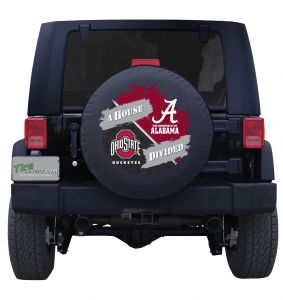 Ohio State Buckeyes and University of Alabama Crimson Tide House Divided Tire Cover