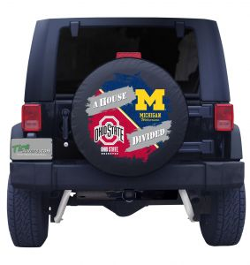 Ohio State Buckeyes and University of Michigan Wolverines House Divided Tire Cover