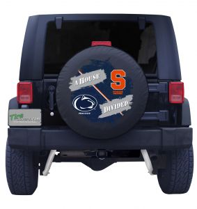 Penn State & Syracuse House Divided Tire Cover