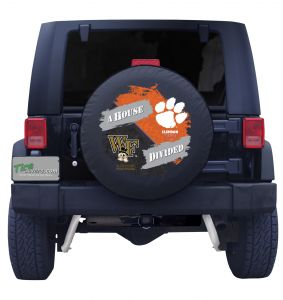 Wake Forest & Clemson House Divided Spare Tire Cover Jeep Wrangler