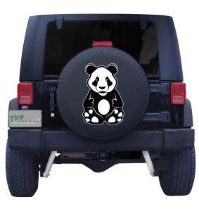 Panda Bear Tire Cover Front