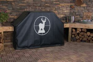 Deer in Cross Hairs Logo Grill Cover