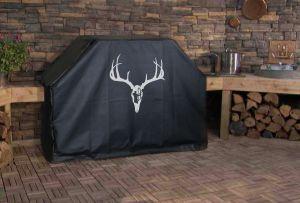 Deer Skull Bow Hunt Logo Grill Cover