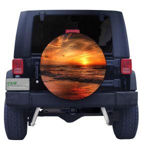 Sunset in Denmark Tire Cover