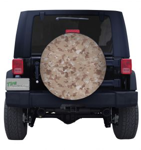 Digital Desert Military Camouflage Tire Cover Jeep Wrangler