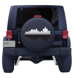 Detroit Michigan Skyline Tire Cover