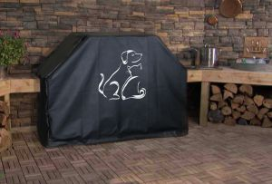 Dog and Cat Best Friends BBQ Grill Cover