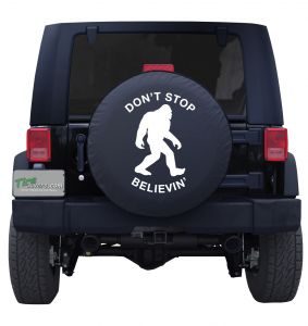 Bigfoot Don't Stop Believin' Custom Tire Cover