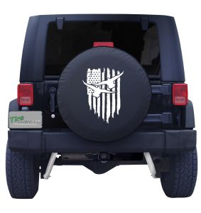Duck Hunt American Flag Tire Cover