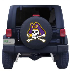 East Carolina University Spare Tire Cover Black Vinyl Front