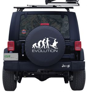 Evolution of Skiing Custom Tire Cover