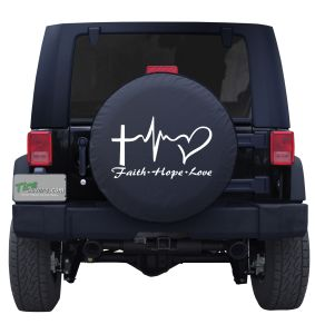 Faith Hope Love Tire Cover