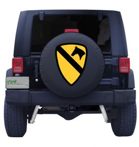 First Cavalry Division Jeep Tire Cover Badge