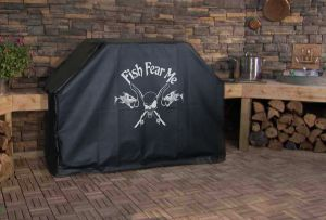 Fish Fear Me Logo Grill Cover