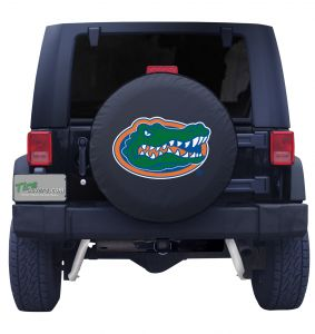 University of Florida Spare Tire Cover Black Vinyl Front