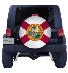 Florida State Flag Closeup Tire Cover Front