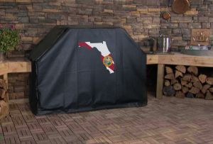 Florida State Outline Flag Logo Grill Cover