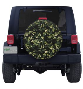 Forest Digital Camouflage Tire Cover Jeep Wrangler