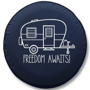 Freedom Awaits RV Tire Cover