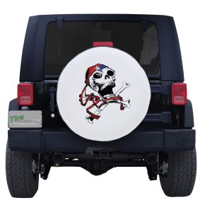 Scary Jolly Roger Color Tire Cover