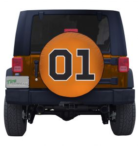 General Lee 01 Flag Custom Jeep Tire Cover
