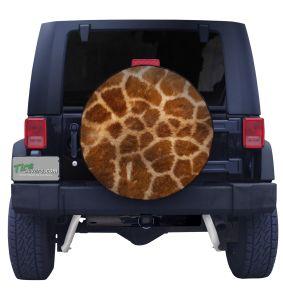 Giraffe Print Spare Tire Cover Front
