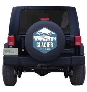 Glacier National Park Badge Tire Cover