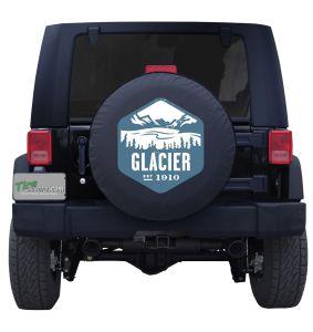 Glacier National Park Badge Tire Cover