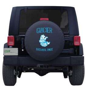 Glacier National Park Vintage Bear Tire Cover