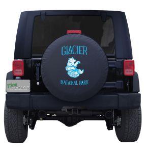 Glacier National Park Vintage Bear Tire Cover