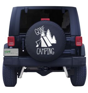 Gone Camping Spare Tire Cover Front