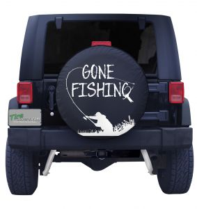 Gone Fishing Spare Tire Cover Front
