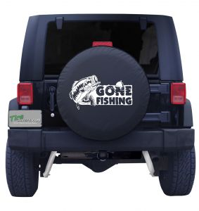 Gone Fishing Bass Tire Cover