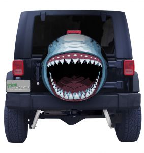 Great White Shark Tire Cover Side
