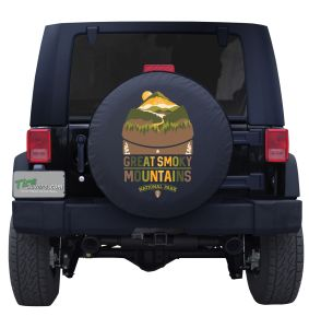 Great Smoky Mountains Landscape Colorful Jeep Tire Cover