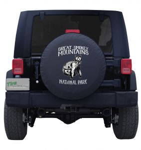Great Smoky Mountains Sitting Bear Custom Tire Cover