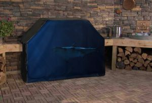 Great White Shark Swimming Logo Grill Cover