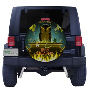 Trick or Treat Owl Tire Cover