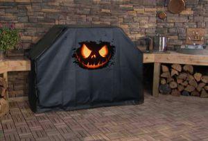 Halloween Pumpkin Logo Grill Cover