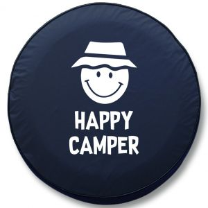 Happy Camper Smiley Face RV Tire Cover