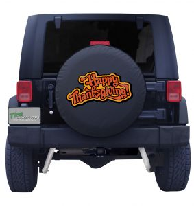 Happy Thanksgiving Jeep Tire Cover Front