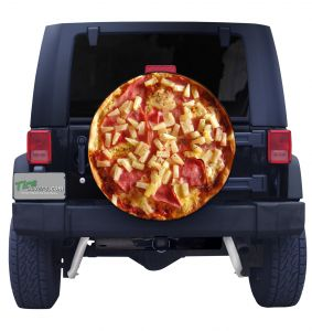 Hawiaan Pizza Tire Cover