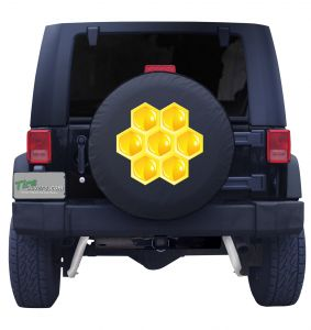 Honeycomb Tire Cover Front
