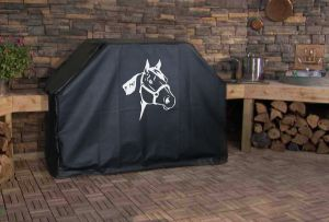 Horse Head Logo Grill Cover