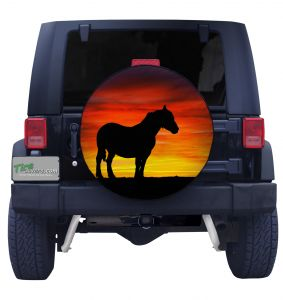 Horse Sunset Tire Cover