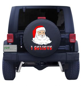 I Believe in Santa Tire Cover Front