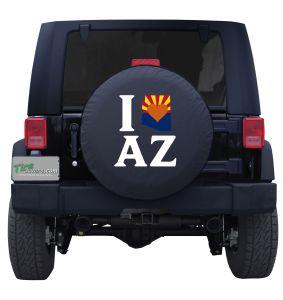I love Arizona State Flag Tire Cover